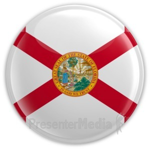 ID# 8254 - Badge of Florida - Presentation Clipart