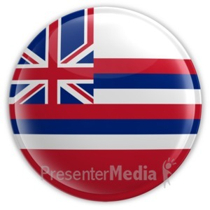 ID# 8256 - Badge of Hawaii - Presentation Clipart
