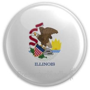 ID# 8258 - Badge of Illinois - Presentation Clipart