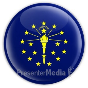 ID# 8259 - Badge of Indiana - Presentation Clipart