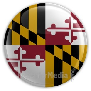 ID# 8265 - Badge of Maryland - Presentation Clipart