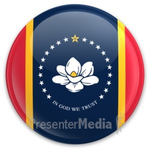 ID# 8269 - Badge of Mississippi - Presentation Clipart