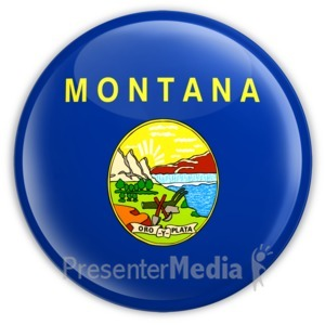 ID# 8271 - Badge of Montana - Presentation Clipart
