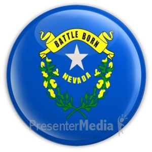 ID# 8273 - Badge of Nevada - Presentation Clipart