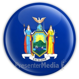 ID# 8277 - Badge of New York - Presentation Clipart