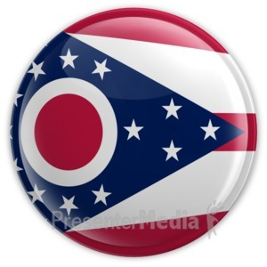 ID# 8280 - Badge of Ohio - Presentation Clipart