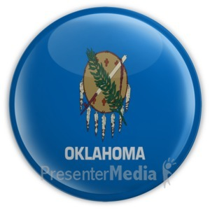 ID# 8281 - Badge of Oklahoma - Presentation Clipart