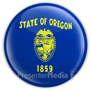 ID# 8282 - Badge of Oregon - Presentation Clipart