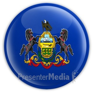 ID# 8283 - Badge of Pennsylvania - Presentation Clipart