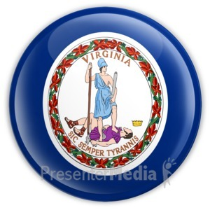 ID# 8291 - Badge of Virginia - Presentation Clipart