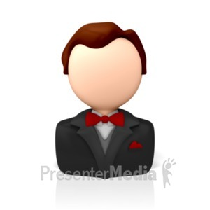 ID# 8334 - Formal Business Icon - Presentation Clipart