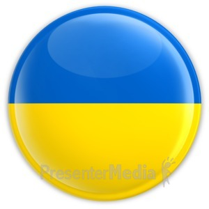ID# 8336 - Badge of Ukraine - Presentation Clipart