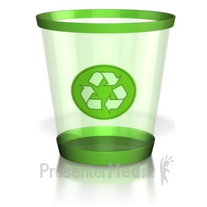 ID# 8344 - Recycle Trash Can - Presentation Clipart