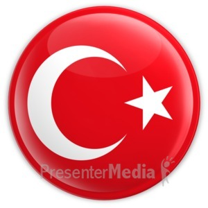 ID# 8361 - Badge of Turkey - Presentation Clipart
