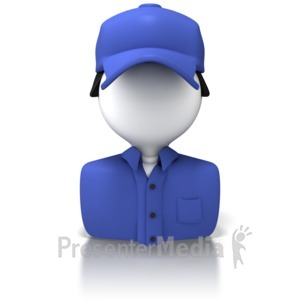 ID# 8366 - Delivery Person Icon - Presentation Clipart