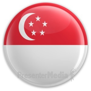 ID# 8369 - Badge of Singapore Flag - Presentation Clipart