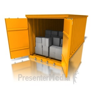 ID# 8370 - Cargo Container Boxes - Presentation Clipart