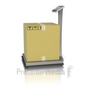 ID# 8371 - Warehouse Weight Scale - Presentation Clipart