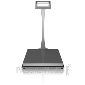 ID# 8374 - Empty Warehouse Scale - Presentation Clipart