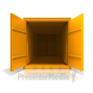 ID# 8375 - Cargo Container Front Open - Presentation Clipart