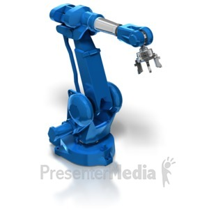ID# 8377 - Industrial Robot Arm - Presentation Clipart
