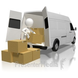 ID# 8380 - Stick Figure Loading Boxes - Presentation Clipart