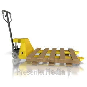 ID# 8382 - Pallet Mover With Pallet - Presentation Clipart