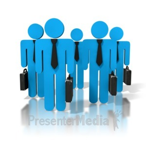 ID# 8392 - Group Of Business People - Presentation Clipart
