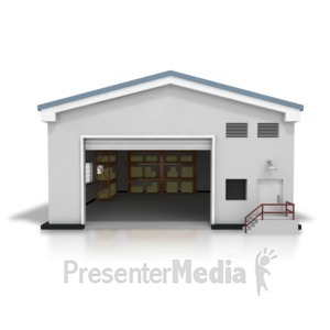 ID# 8399 - Open Warehouse - Presentation Clipart