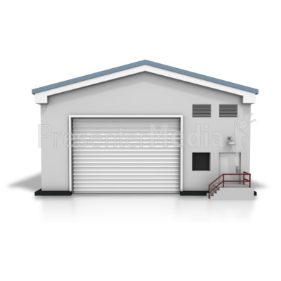 closed warehouse - business and finance - great clipart for