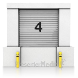 ID# 8409 - Loading Dock Closed Bay - Presentation Clipart