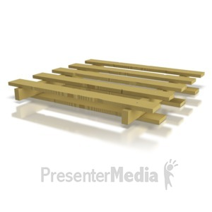 ID# 8411 - Single Wooden Pallet - Presentation Clipart