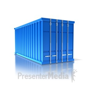 ID# 8414 - Cargo Container - Presentation Clipart
