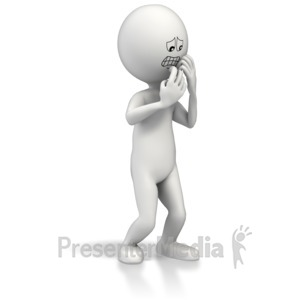 ID# 8434 - Anxious Scared Figure - Presentation Clipart