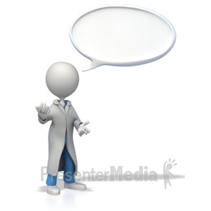 ID# 8449 - Doctor or Nurse Conversation Bubble - Presentation Clipart