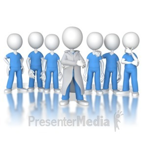 ID# 8461 - Doctor or Nurse Leader of the Team - Presentation Clipart
