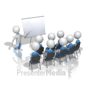 ID# 8474 - Presenting To Nurses or Doctors - Presentation Clipart