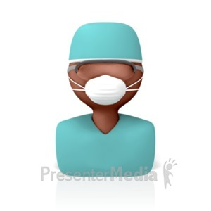 ID# 8477 - Surgeon Icon - Presentation Clipart