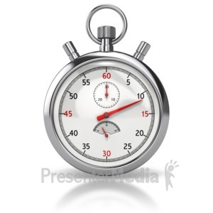 ID# 8496 - Stop Watch Front - Presentation Clipart