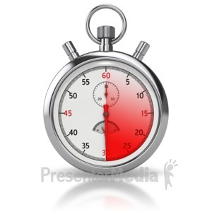ID# 8500 - Stop Watch Thirty Seconds - Presentation Clipart