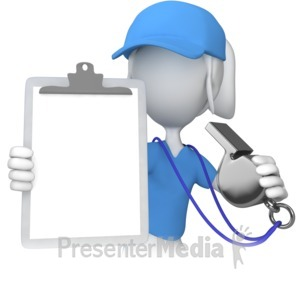 ID# 8517 - Female Coach With Clipboard - Presentation Clipart