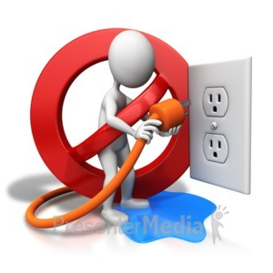 ID# 8526 - Water Hazard Electrical Safety - Presentation Clipart