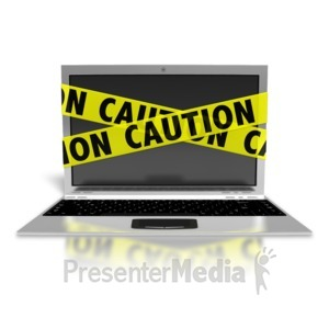 ID# 8533 - Laptop Internet Safety - Presentation Clipart