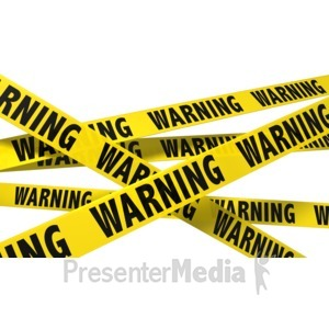 ID# 8536 - A Wall Of Warning Tape - Presentation Clipart