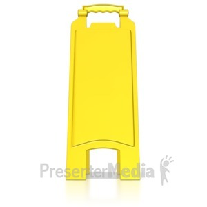 ID# 8541 - Blank Floor Caution Sign - Presentation Clipart