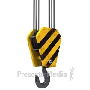 ID# 8555 - Construction Hook And Cable - Presentation Clipart