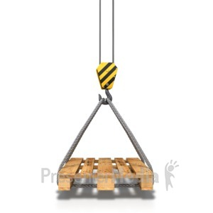 ID# 8564 - Hook Crane Carrying Pallet - Presentation Clipart