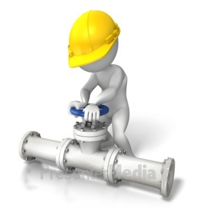 ID# 8575 - Construction Pipes Turn Valve - Presentation Clipart