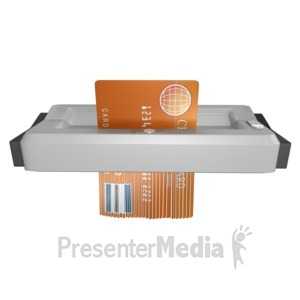 ID# 8628 - Shredding Credit Card - Presentation Clipart