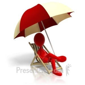 ID# 8678 - Relaxing In Beach Chair - Presentation Clipart